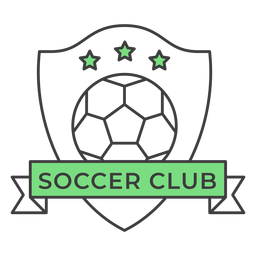 Soccer club ball star colored badge sticker