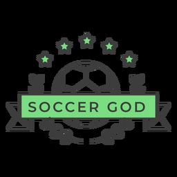 Etiqueta engomada coloreada rama de la estrella de la bola de dios de fútbol