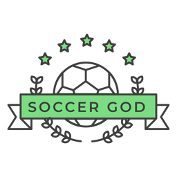 Soccer god ball star branch colored badge sticker