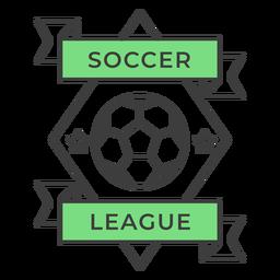 Etiqueta do emblema colorido do rhomb da estrela da bola do futebol do ligue