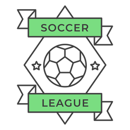 Soccer ligue ball star rhomb colored badge sticker