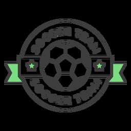 Soccer team ball star colored badge sticker