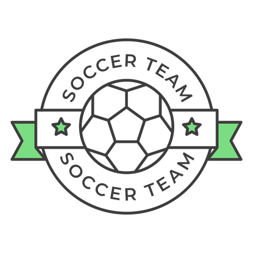 Soccer team ball star colored badge sticker Transparent PNG