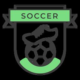 Adesivo de crachá colorido de bola de inicialização de futebol