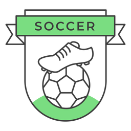 Soccer boot ball colored badge sticker