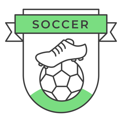 Soccer boot ball colored badge sticker Transparent PNG