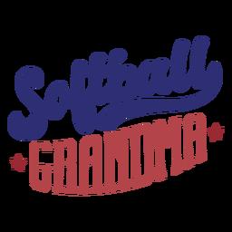 Etiqueta engomada de la insignia de la estrella de la abuela del softball