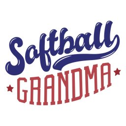 Softball grandma star badge sticker