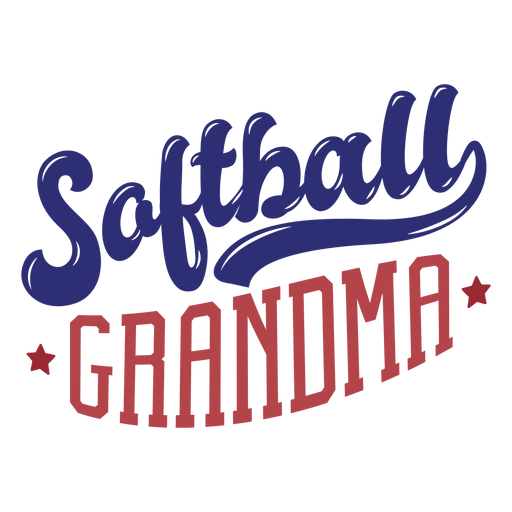 Softball Grandma Star Badge Sticker Transparent Png Svg Vector File