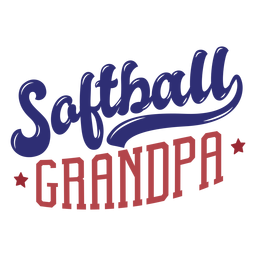 Etiqueta engomada de la insignia de la estrella del abuelo de softball