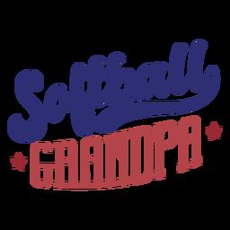 Etiqueta engomada de la insignia de la estrella del abuelo del softbol