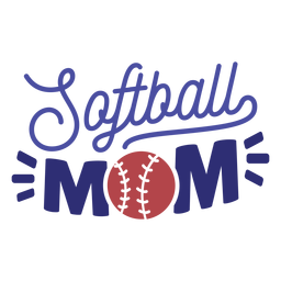 Softball mom stitch badge sticker