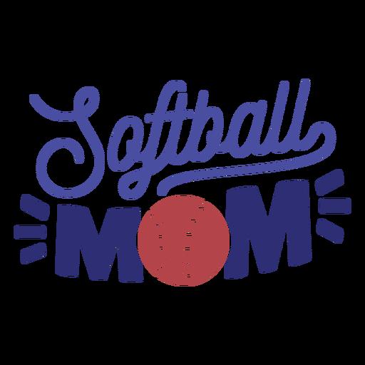 Softball mom stitch badge sticker Transparent PNG