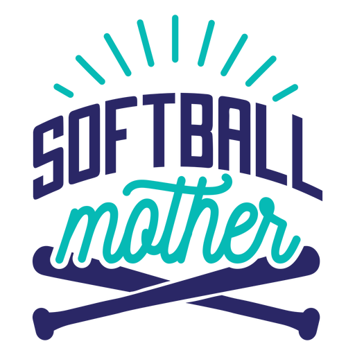Softball mother bat badge sticker Transparent PNG