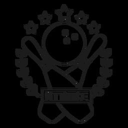 Strike Kegel Ball Star Branch Abzeichen Schlaganfall