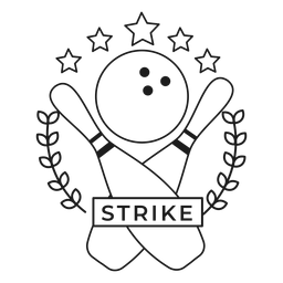 Strike skittle ball star rama badge stroke