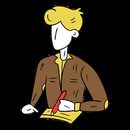 Bosquejo de papel de camisa de estudiante
