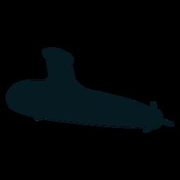 U-Boot-Taucher Schraube Torpedo Silhouette