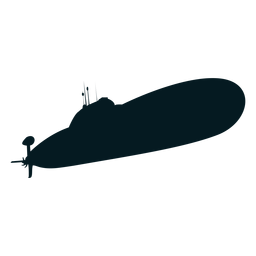 Submarine screw diver torpedo silhouette