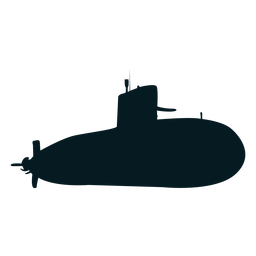 Submarine screw torpedo diver silhouette