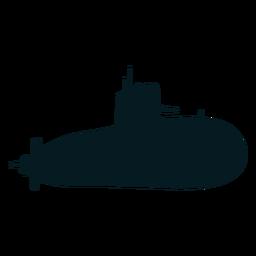 Tornillo submarino torpedo silueta buzo