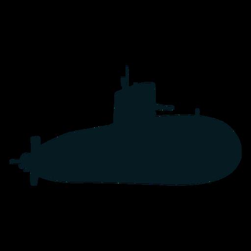 Submarine screw torpedo diver silhouette