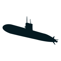 Submarine torpedo screw diver silhouette