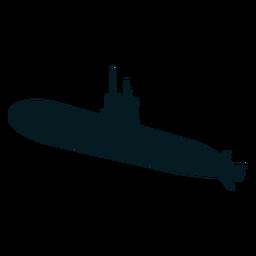 Submarino torpedo tornillo silueta buzo