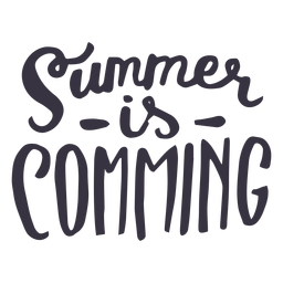 Summer is coming badge sticker