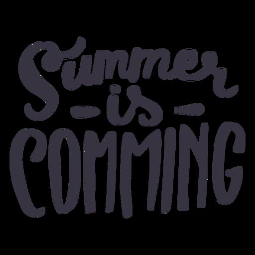 O verão está chegando adesivo de crachá Transparent PNG