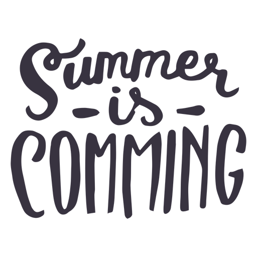 Summer is coming badge sticker Transparent PNG