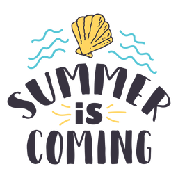 Summer is coming shell wave badge sticker