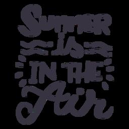 El verano está en la etiqueta de la insignia de la onda de aire.