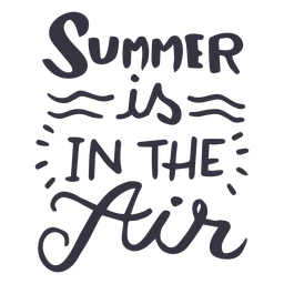 O verão está na etiqueta do emblema da onda de ar