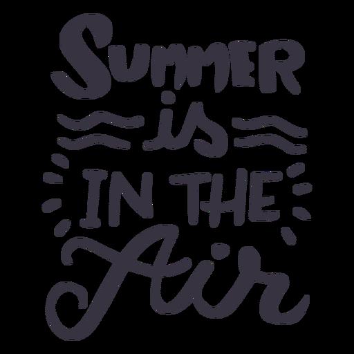 Sommer ist im Luftwellen-Abzeichenaufkleber Transparent PNG