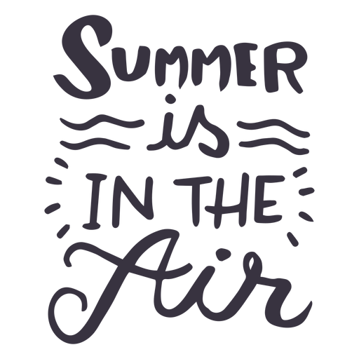 Summer is in the air wave badge sticker Transparent PNG