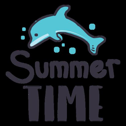 Etiqueta engomada de la insignia del delfín del horario de verano Transparent PNG