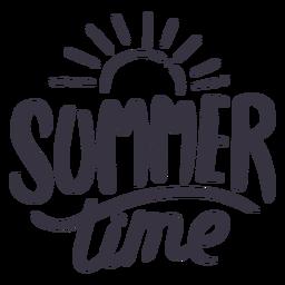 Etiqueta engomada de la insignia del sol del horario de verano