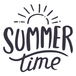 Summer time sun badge sticker