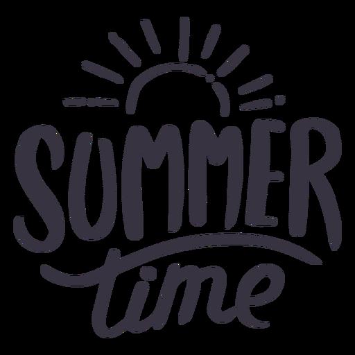 Adesivo de distintivo de sol de horário de verão Transparent PNG