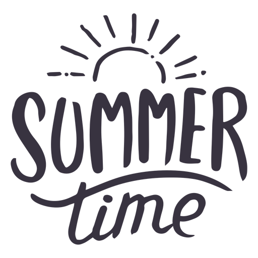 Summer time sun badge sticker Transparent PNG