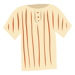 T shirt stripe button flat
