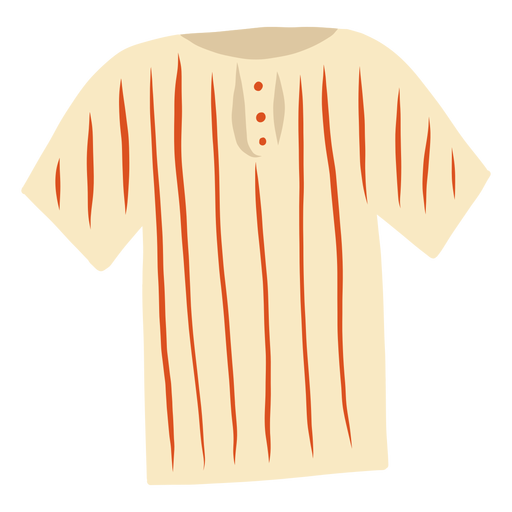 T shirt stripe button flat Transparent PNG