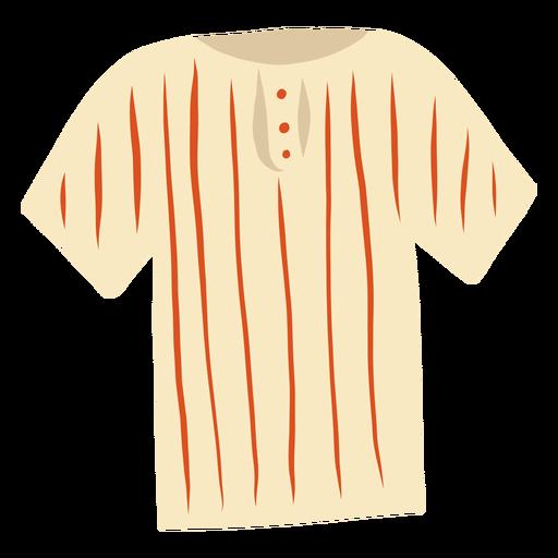 T shirt stripe button flat