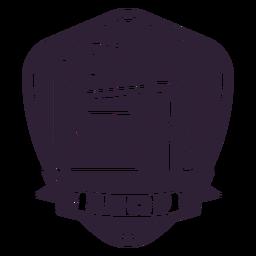 Etiqueta engomada de la insignia de la aguja de la máquina de coser de la sastrería