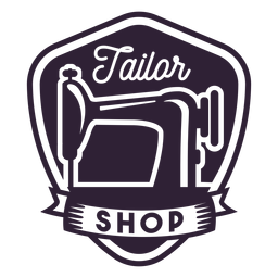 Tailor shop sewing machine needle badge sticker