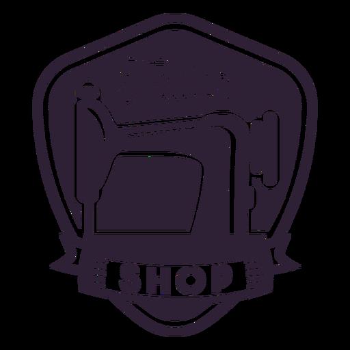 Etiqueta engomada de la insignia de la aguja de la máquina de coser de la personalización Transparent PNG