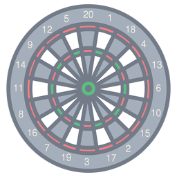 Target darts number figure sector flat