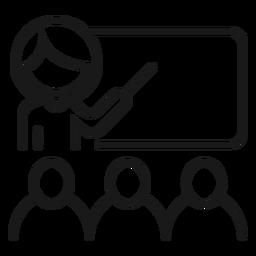 Orientador de tábua de professor explicação golpe de estudante