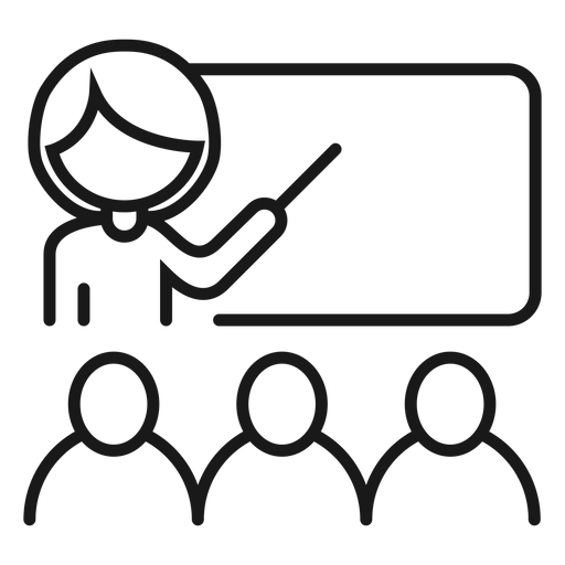 Teacher board lecturer explanation student stroke